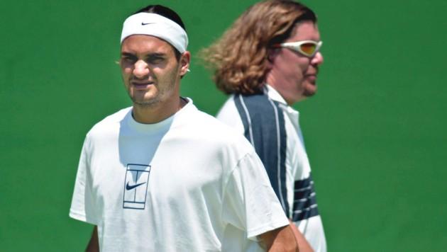 Roger Federer (li.) und sein Ex-Trainer Peter Lundgren (Bild: GEPA)