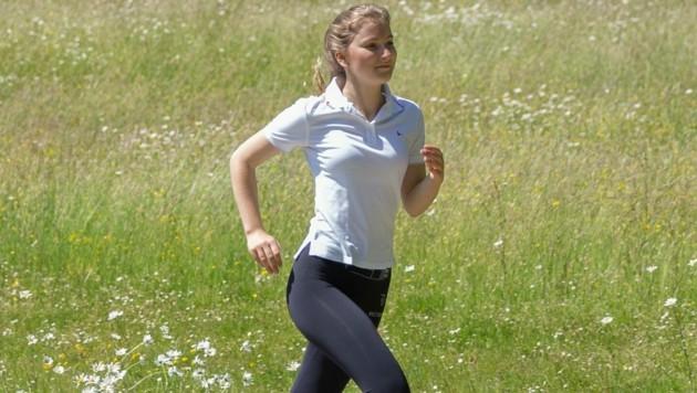 Prinzessin Elisabeth macht sich fit für die Militärschule. (Bild: instagram.com/belgianroyalpalace)