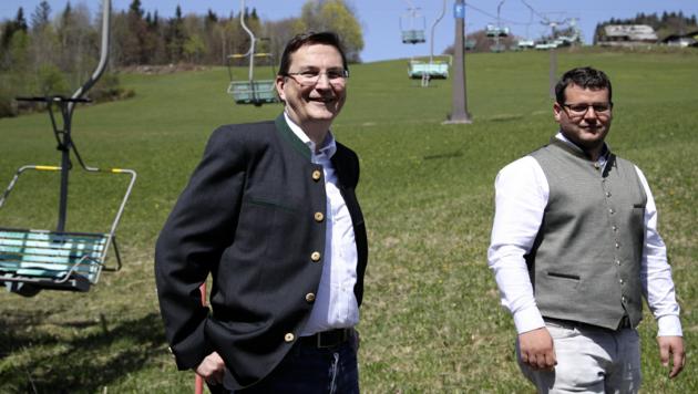 Die neuen Eigentümer Bernhard Eibl und Berthold Lindner. (Bild: Andreas Tröster)