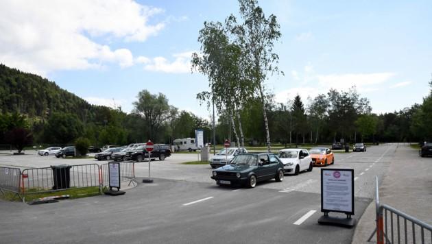 Am Parkplatz Arneitz herrscht gähnende Leere. (Bild: Hermann Sobe)