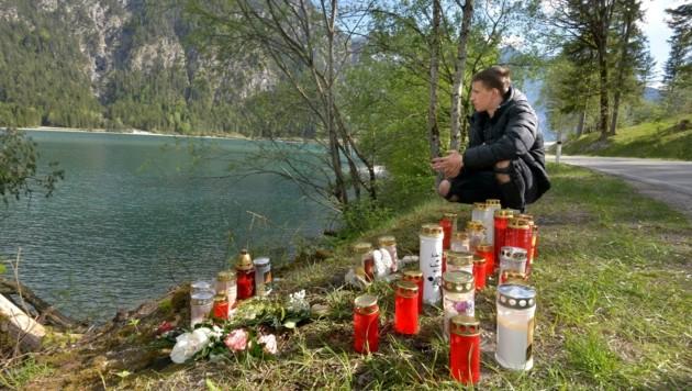 Armin Sakanovic an der Unfallstelle (Bild: ZOOM.TIROL)