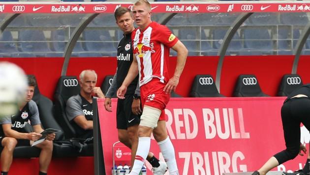 Rasmus Kristensen (re.) mit Trainer Jesse Marsch. (Bild: GEPA)