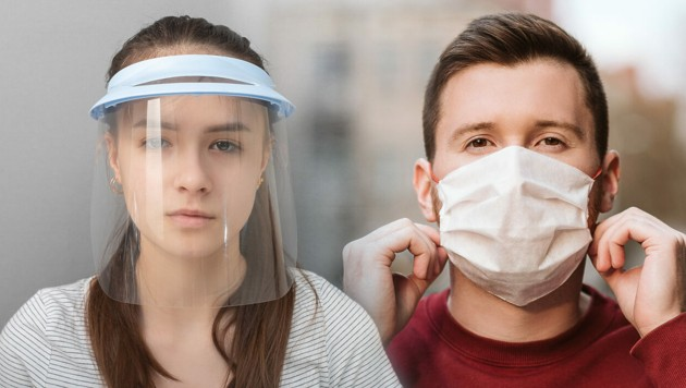 Beide Varianten sind zum Schutz von Mitmenschen sinnvoll. (Bild: stock.adobe.com, krone.at-Grafik)