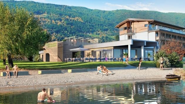 So soll das Restaurant im Strandbad Bodensdorf aussehen. (Bild: Architekt Heiglauer)