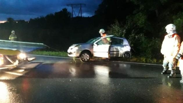 Am 25.05.2020 um 20:49 Uhr wurden die Feuerwehr Nussdorf und der Löschzug Pinswag zu einem Verkehrsunfall alarmiert. (Bild: FF Nussdorf)
