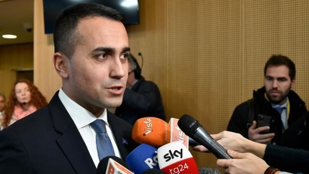 Der italienische Außenminister Luigi Di Maio ist optimistisch. (Bild: AFP)