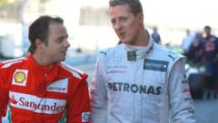 Felipe Massa (li.) und Michael Schumacher im Jahr 2012 (Bild: GEPA )
