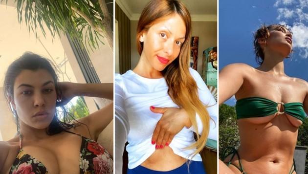 (Bild: instagram.com/kourtneykardashian, instagram.com/guelcankamps, instagram.com/bellahadid)