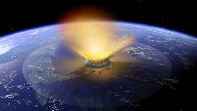 Rätsel gelöst? Forscher fanden in einem gigantischen Krater vor Mexiko Asteroidenstaub. (Bild: APA/dpa)