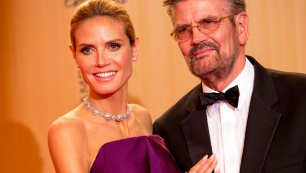 Heidi Klum mit ihrem Vater Günther Klum bei der Bambi-Verleihung 2015 (Bild: Hubert Boesl / dpa / picturedesk.com)