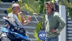 """Brad Pitt mit neuer Corona-""""Matte"""" in Malibu (Bild: www.photopress.at)"""