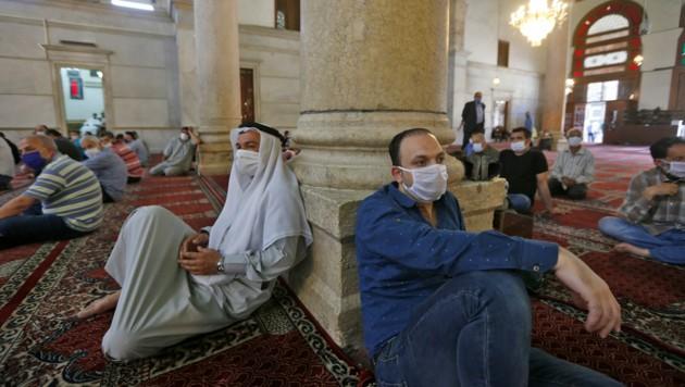 Freitagsgebet in einer Moschee in der syrischen Hauptstadt Damaskus
