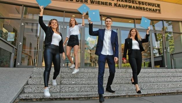 Maturanten der Vienna Business School (Bild: Harald Klemm)