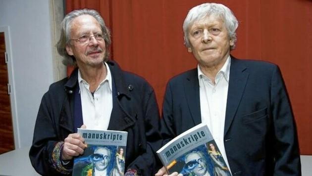Peter Handke und Alfred Kolleritsch (Bild: Manuskripte)
