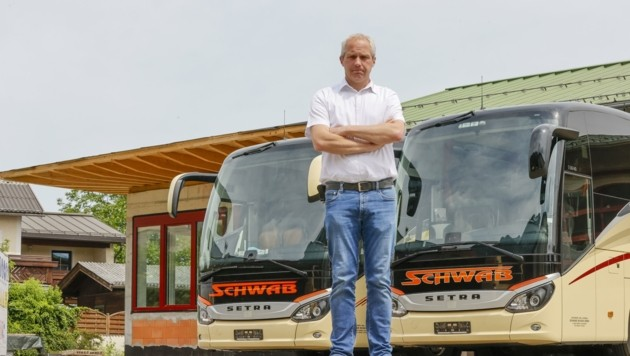 Reisebus-Unternehmer Markus Schwab konnte aufgrund der Krise monatelang nicht fahren. (Bild: Tschepp Markus)