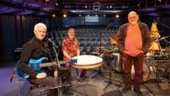 Norbert Rusz, Franz Schmuck und Herms Fritz auf der Art Steiermark Kulturbühne (Bild: Schilhan/ORF)