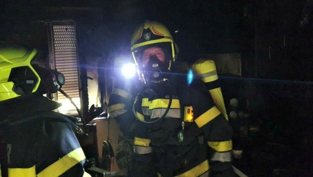 Die Feuerwehrleute konnten Schlimmeres verhindern. (Bild: FF Voitsberg)