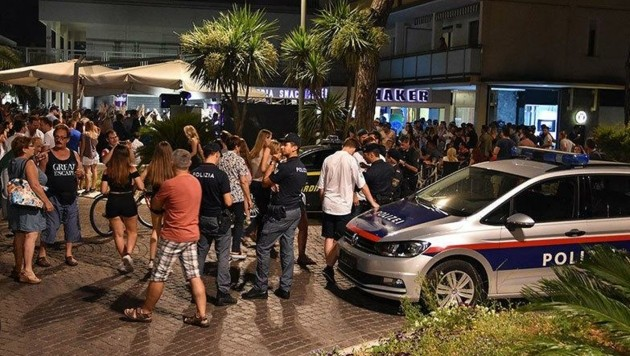 Szenen wie 2019 spielten sich heuer in Lignano nicht ab. (Bild: Polizei)