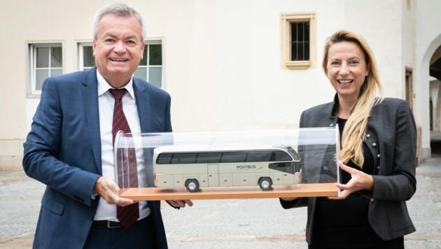 LH.-Stv. Anton Lang und Landesrätin Juliane Bogner-Strauß. (Bild: Land Steiermark/Streibl)