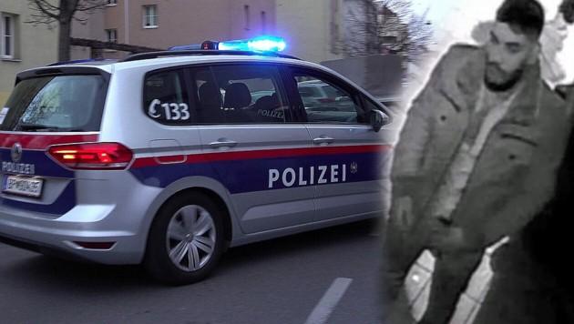 Nach diesem Verdächtigen wird in Wien intensiv gefahndet. (Bild: BPD, P. Huber, krone.at-Grafik)