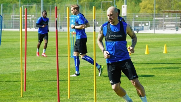 Sandro Gotal (v.) wurde in Hartberg aussortiert. (Bild: Sepp Pail)