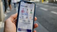 "Die ""StopCovid""-App in Frankreich (Bild: AFP)"