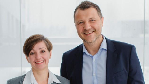 Max Sonnleitner und Technik-Vorstand Sonja Kierstein. (Bild: Genspeed Biotech)