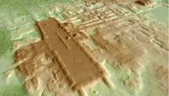 Eine LIDAR-Aufnahme der im Süden von Mexiko entdeckten Monumentalanlage der Maya (Bild: Takeshi Inomata)