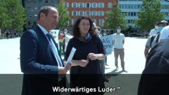 Josef Geisler (ÖVP) und Ingrid Felipe (Grüne) (Bild: Screenshot YouTube.com/WWF Österreich)