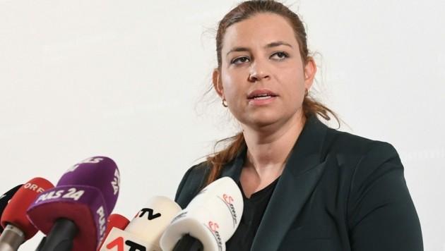 Die Fraktionsführerin der Grünen, Nina Tomaselli