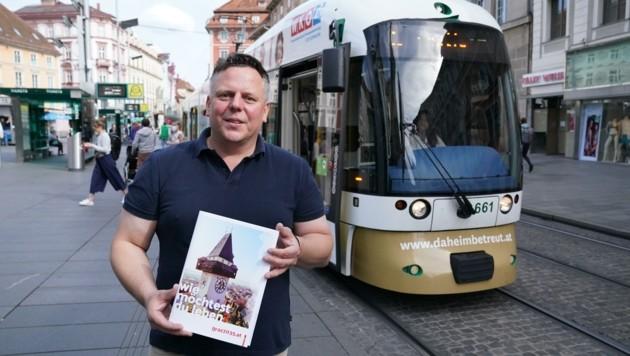 Der Grazer SPÖ-Chef Michael Ehmann lässt mit seiner Forderung nach Gratis-Tickets für Straßenbahnen und Bussen aufhorchen. (Bild: Pail Sepp)