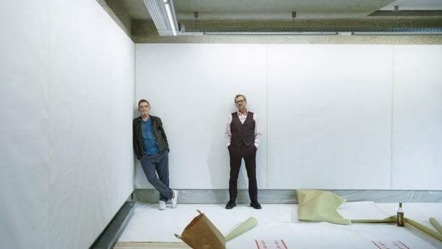 Tomak und Johann Brandstetter (re.) im Aktionsraum LINkZ (Bild: Winkler Reinhard)