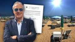 """Der """"Bittbrief"""" von Massimo Brini an Kanzler Sebastian Kurz zeigte keine Wirkung. (Bild: Lignano.irg/Ennio Polat, stock.adobe.com, krone.at-Grafik)"""