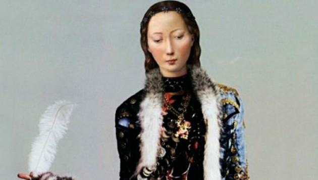 Digitales Gemälde von Dorothee Golz: Hippie-Madonna (Ausschnitt). (Bild: Dorothee Golz/Galerie 422)