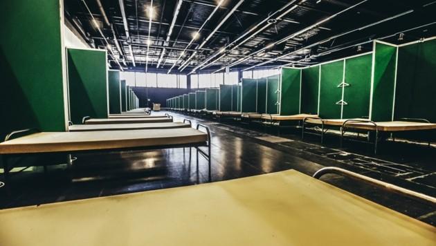 Messezentrum wurde vorübergehend in ein Covid-Spital verwandelt - ab Ende Juni wird zurückgebaut (Bild: Tschepp Markus)