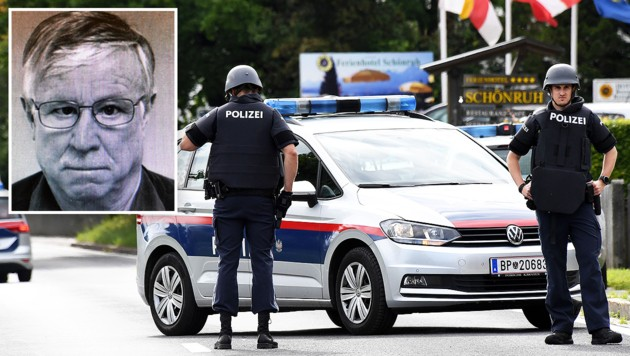 Doppelmörder Ernst B. (kl. Foto) dürfte schon länger Mordgedanken gehabt haben. (Bild: ilgazzettino.it/Polizei Italien, Hermann Sobe, krone.at-Grafik)