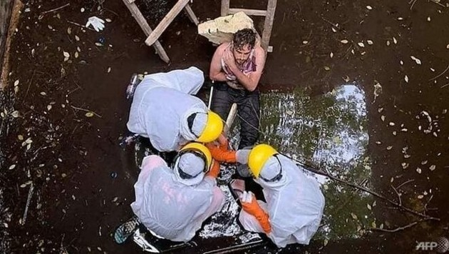 Nach sechs Tagen in einem Brunnen im indonesischen Urlaubsparadies Bali ist der Brite Jacob Roberts gerettet worden. (Bild: AFP)