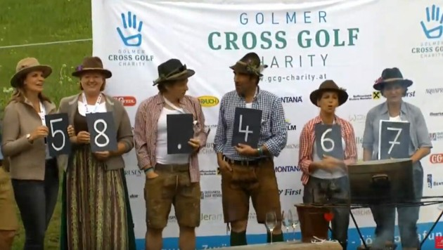 Auch heuer zeigten sich die Teilnehmer wieder höchst großzügig, spendeten 58.467 Euro für in Not geratene Montafoner Kinder. (Bild: Golmer Cross Golf Charity)