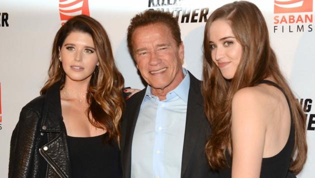 Arnold Schwarzenegger mit den Töchtern Katherine und Christina (Bild: www.PPS.at)