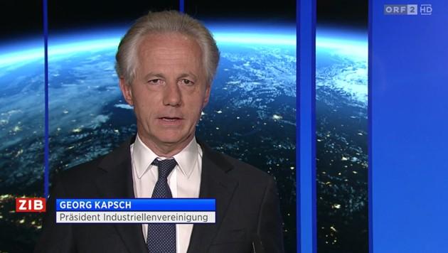 """IV-Präsident Georg Kapsch in der """"ZiB 2"""""""
