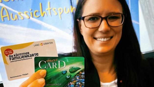 Landesrätin Sara Schaar präsentierte die Kooperation von Familienkarte und Kärnten Card. (Bild: Wallner Hannes)
