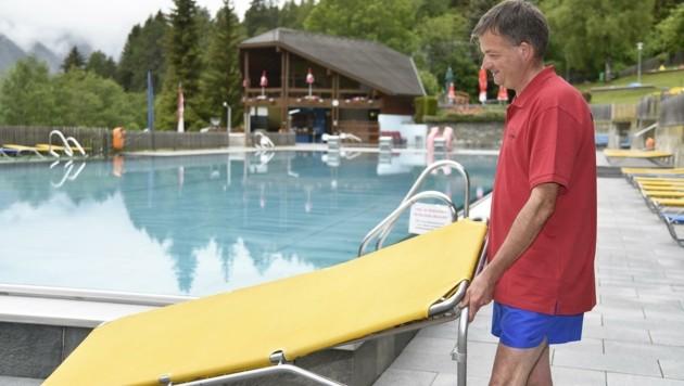 Karl Pfeifenberger traf bereits am Dienstag Vorbereitungen für das Wochenende. (Bild: Holitzky Roland)