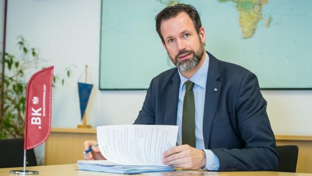 Andreas Holzer, Chef der Soko Tape (Bild: BMI/Gerd Pachauer)