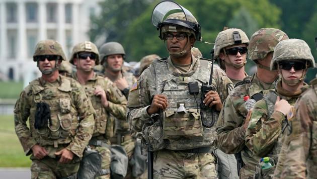 Mitglieder der US-Nationalgarde in Washington (Bild: AFP)