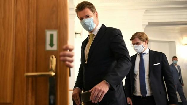 Der ehemalige freiheitliche Nationalratsabgeordnete Markus Tschank vor seiner Befragung im Ibiza-U-Ausschuss (Bild: APA/HELMUT FOHRINGER)
