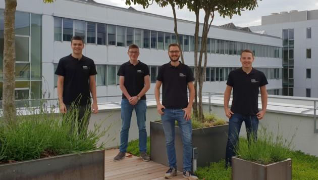 Die erfolgreichen Studenten (v.l.n.r.): Sebastian Kammermeier, Matthäus Fischer, Johannes Pillgrab und Michael Söllinger (Bild: FHOÖ)