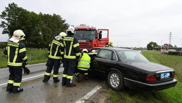 Unfall im Juni 2020: Die Feuerwehr Biedermannsdorf war mit drei Fahrzeugen und 13 Kameraden vor Ort.