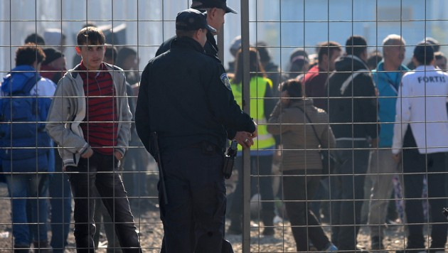Kroatische Polizisten (Bild: AFP)