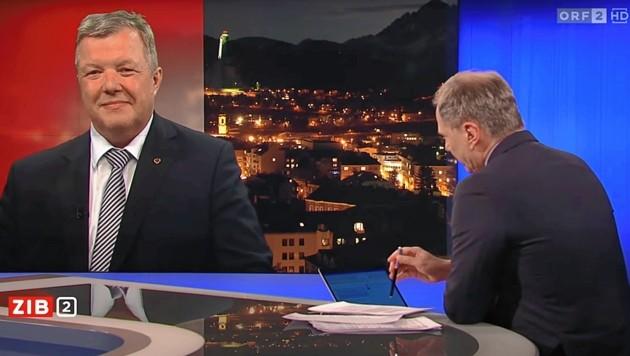 Das Interview, das LR Bernhard Tilg am 16. März Armin Wolf in der ZIB 2 gab, bleibt wohl noch sehr lange in Erinnerung. (Bild: Screenshot/tvthek.orf.at)