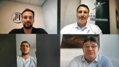 Online im Gespräch: Viktor Szilagyi, Niko Bilyk, Didi Peißl und StHV-Präsident Frank Dicker. (Bild: zVg)